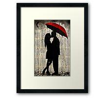 rainy day love Framed Print