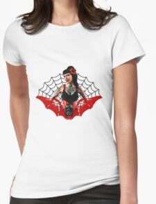 Tattoo Pin Up Womens Fitted T-Shirt