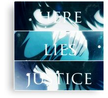 Death Note K - TRUTH.LIES.JUSTICE Canvas Print