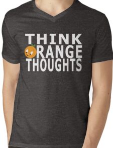 Think Orange Thoughts Mens V-Neck T-Shirt