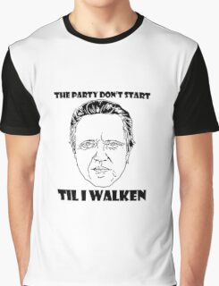 Funny Walken - love black white perfect quote cute fun awesome cool parody Graphic T-Shirt