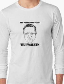 Funny Walken - love black white perfect quote cute fun awesome cool parody Long Sleeve T-Shirt