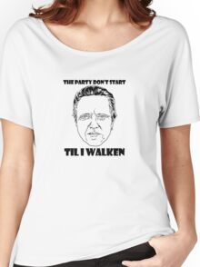 Funny Walken - love black white perfect quote cute fun awesome cool parody Women's Relaxed Fit T-Shirt