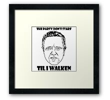Funny Walken - love black white perfect quote cute fun awesome cool parody Framed Print
