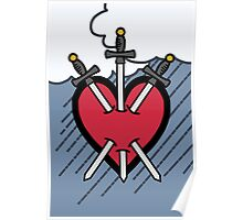 Tarot - Three of Swords Poster
