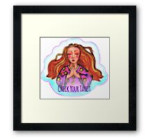 Check Your Tarot Framed Print