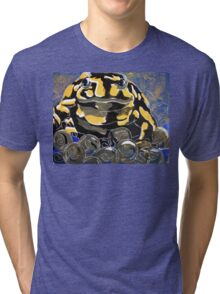 Precious - A Corroboree Frog Guarding Eggs  Tri-blend T-Shirt