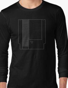 NES Cartridge - White Ink Long Sleeve T-Shirt
