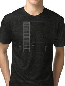 NES Cartridge - White Ink Tri-blend T-Shirt