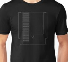 NES Cartridge - White Ink Unisex T-Shirt