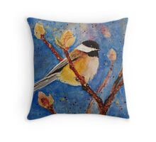 Darling Little Chickadee Throw Pillow
