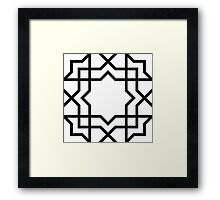 Eight pointed star unto oblivion Framed Print