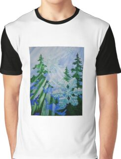 """Snowflake Forest""  Graphic T-Shirt"