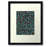 Korean Wedding Ceremonies - Blue & Black Framed Print