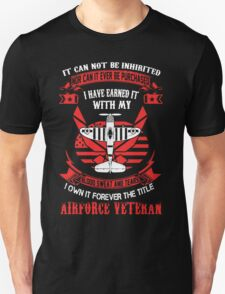 Airforce Veteran Forever The Title T-Shirt