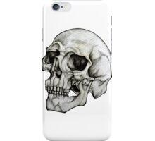 Realistic Skull Sketch Design iPhone Case/Skin