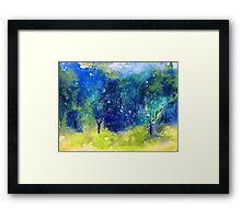 Tree Series - Trees in the Orchard 1  Framed Print