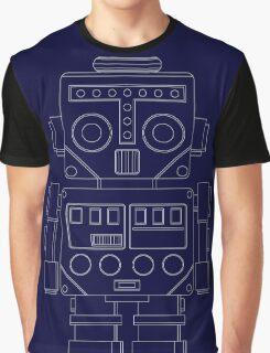 Retro Robot white Graphic T-Shirt