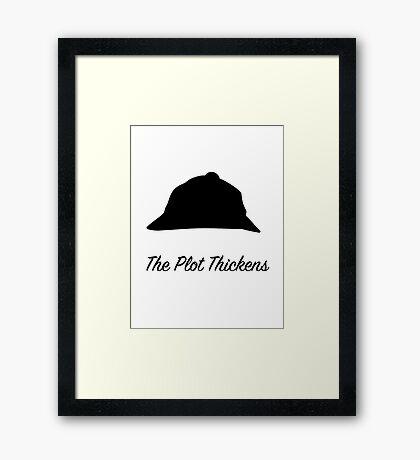"Sherlock Holmes ""The Plot Thickens"" Framed Print"
