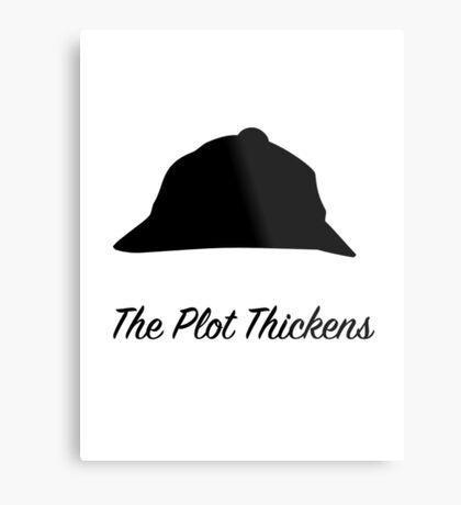 "Sherlock Holmes ""The Plot Thickens"" Metal Print"