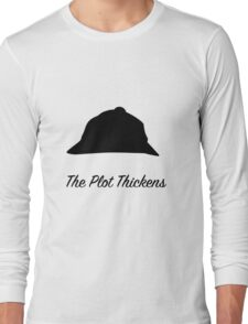 "Sherlock Holmes ""The Plot Thickens"" Long Sleeve T-Shirt"