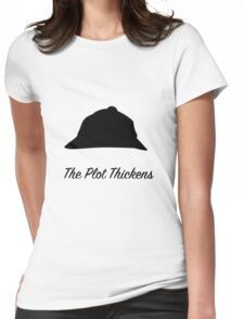 "Sherlock Holmes ""The Plot Thickens"" Womens Fitted T-Shirt"