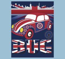 British Mod Bug in Blue Kids Tee