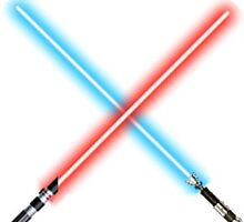Star Wars lightsabers clashing by d3s1gn3r