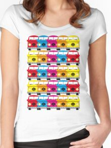 Campervan Multi Abstract No.1 Women's Fitted Scoop T-Shirt