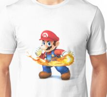 Mario with fire powers Unisex T-Shirt