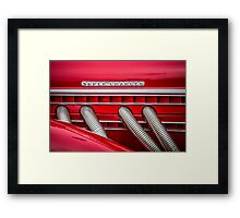 Red Super-Charged Framed Print