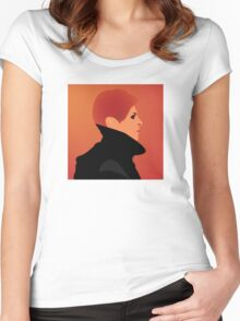 Jerome Newton — David Bowie, Low, Man Who Fell to Earth Women's Fitted Scoop T-Shirt