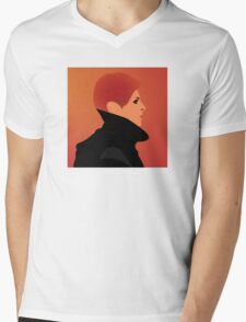 Jerome Newton —David Bowie, Low, Man Who Fell to Earth Mens V-Neck T-Shirt