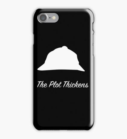 "Sherlock Holmes ""The Plot Thickens"" (White) iPhone Case/Skin"