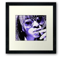 'BALCONY IN PARIS' *PURP ON PURP* Framed Print