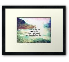 Shakespeare adventure, life quote Framed Print