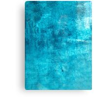 Blue Cold Grunge Texture Canvas Print