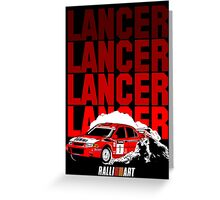 LANCER EVO VI - Tommi Makinen Greeting Card