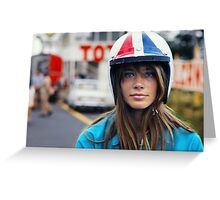 Françoise Hardy - Grand Prix Greeting Card