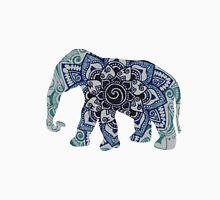Blue Elephant Mandala Silhouette Unisex T-Shirt