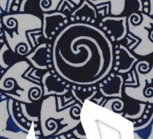 Blue Elephant Mandala Silhouette Sticker