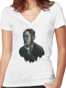 H.P. Lovecraft Women's Fitted V-Neck T-Shirt