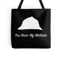 "Sherlock Holmes ""You Know My Methods"" (White) Tote Bag"