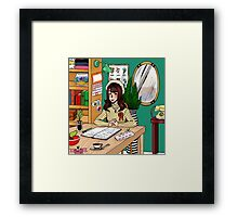 Office Space (color) Framed Print
