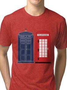Dr. Who Phone Booth Tri-blend T-Shirt