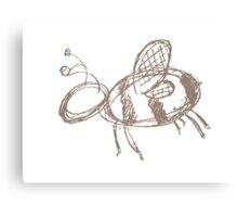 Bee Sketchy Canvas Print