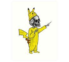 Skull Pikachu Art Print