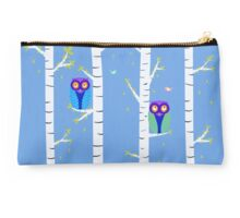 Cute Owls Illustration Studio Pouch