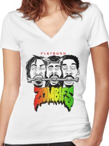 flatbush zombies 6 Women's Fitted V-Neck T-Shirt