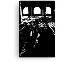 Michigan Central Station Floorboards Canvas Print